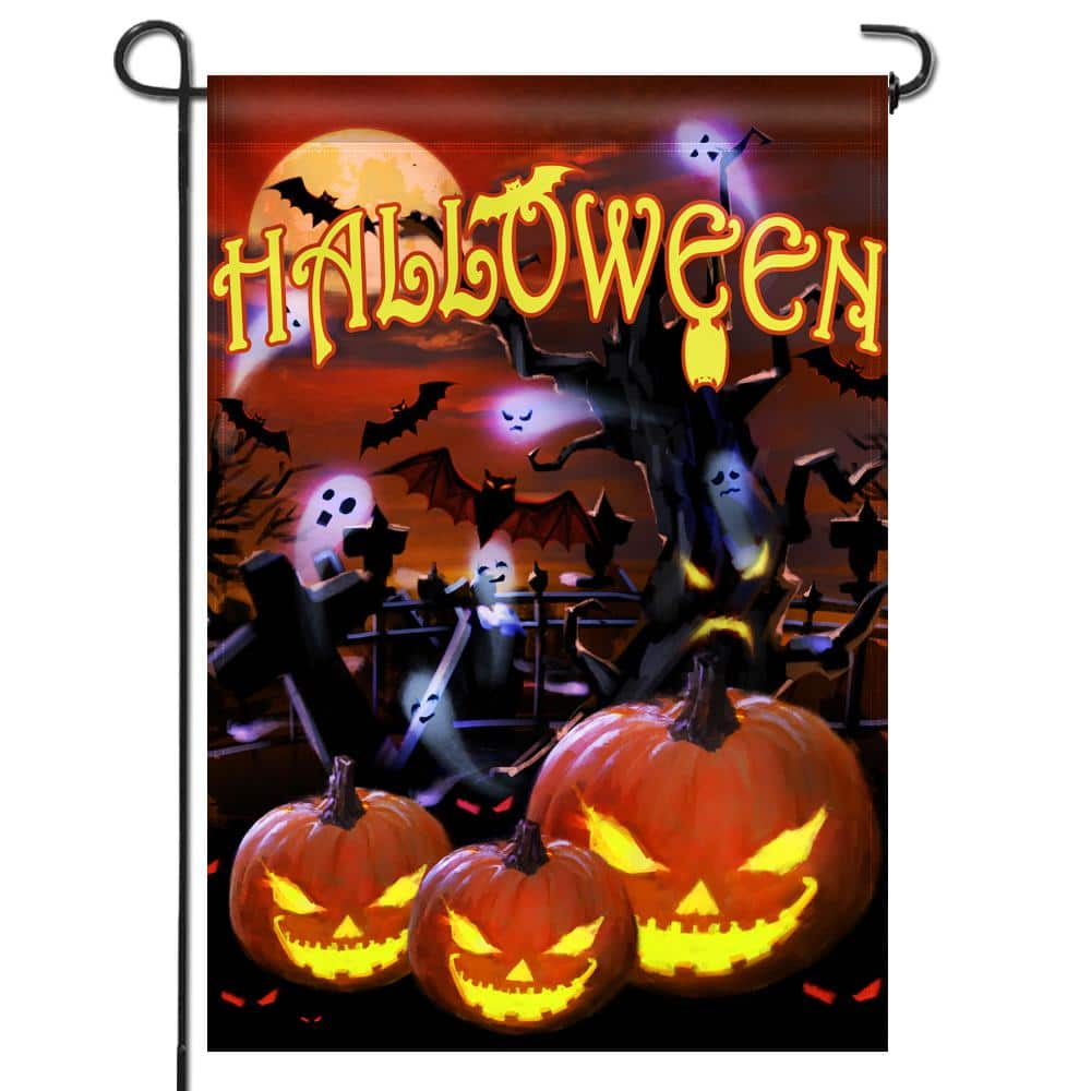 Anley 18 In X 12 5 In Halloween Jack O Lantern Decorative Religion Feast Double Sided Garden Flags A Flag Garden Halloween The Home Depot