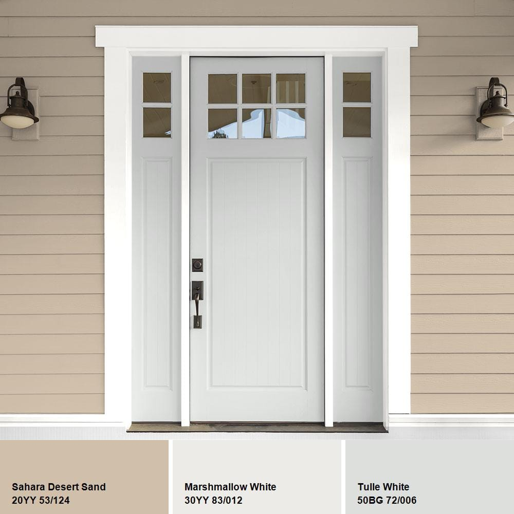 Ppg Timeless 5 Gal Hdppg1n17 Tulle White Semi Gloss Exterior One Coat Paint With Primer Hdppg1n17x 05sg The Home Depot