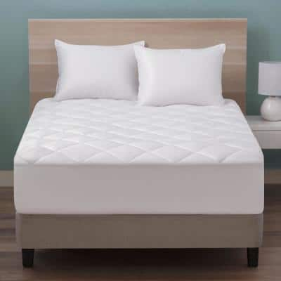 Slumber Sleep Queen Quilted Mattress Pad