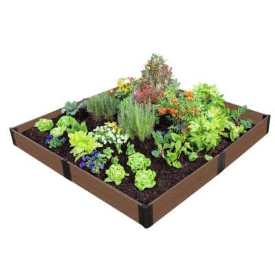 One Inch Series 8 ft. x 8 ft. x 11 in. Uptown Brown Composite Raised Garden Bed