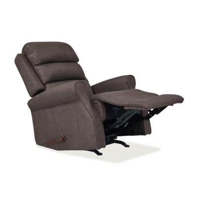 Rocker in Chocolate Brown Nubuck Fabric Recliner Chair
