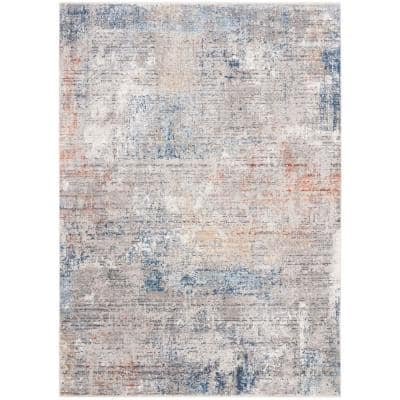 Dream Gray/Blue 8 ft. x 10 ft. Abstract Area Rug