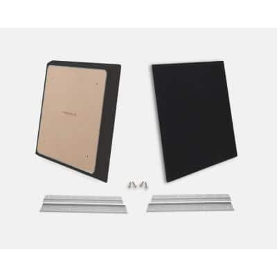 24 in. W x 24 in. L x 1 in. H Black Fabric Absorption Plus Diffusion Panels Small Panel Pair Kit (Pack of 2)
