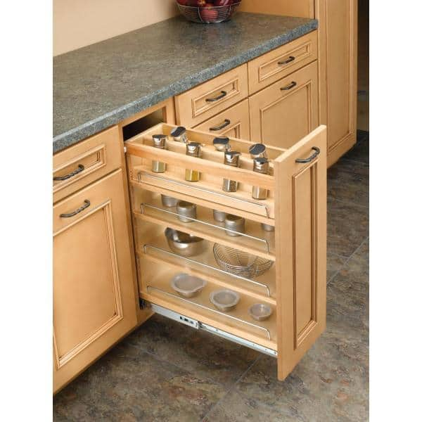 Rev A Shelf 5 In Spice Rack Insert For, Spice Racks For Kitchen Cabinets Pull Out