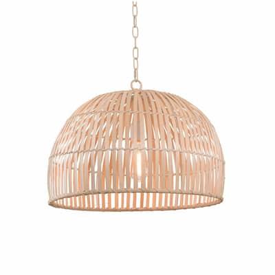 Maan 1-Light Natural Bamboo Pendant