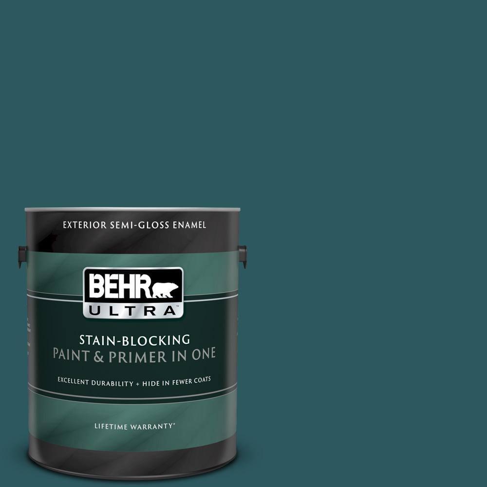 Behr Marquee 5 Gal S450 7 Tsunami Semi Gloss Enamel Exterior Paint