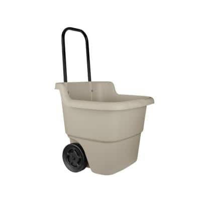 15 Gal. Portable Resin Taupe Lawn Cart