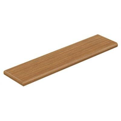 Royal Oak/Classic Auburn Oak 47 in. L x 12-1/8 in. W x 1-11/16 in. T Laminate Left Return for Stairs 1 in. T