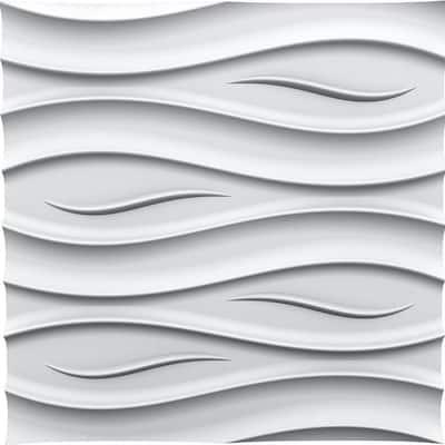 Ocean 2 ft. x 2 ft. Seamless Foam Glue-up Wall Panel (48 Sq. Ft. / Pack)