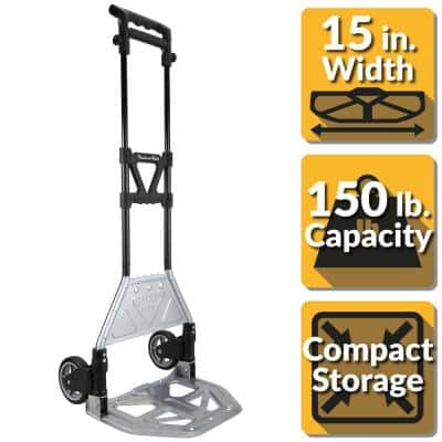 150 lb. Heavy Duty Folding Hand Truck with Load Support and Steel Toe Plate