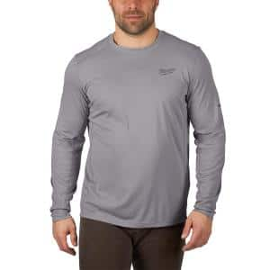 Gen II Men's Work Skin Extra Large Gray Light Weight Performance Long-Sleeve T-Shirt