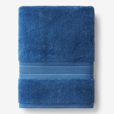 Company Cotton Sapphire Solid Turkish Cotton Bath Sheet