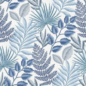Palomas Blue Botanical Blue Wallpaper Sample