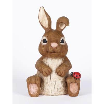 Rabbit Garden Statues Outdoor Decor The Home Depot
