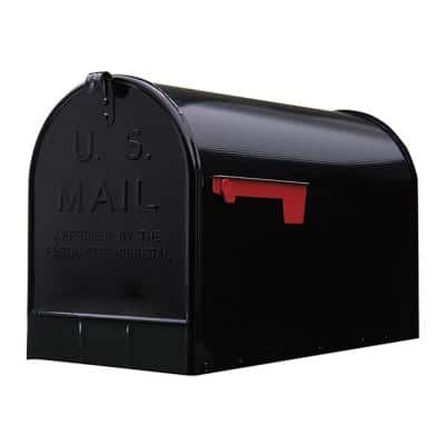 Stanley Extra Large, Steel, Post Mount Mailbox, Black