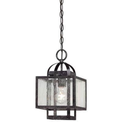 Camden Square 1-Light Aged Charcoal Mini Pendant