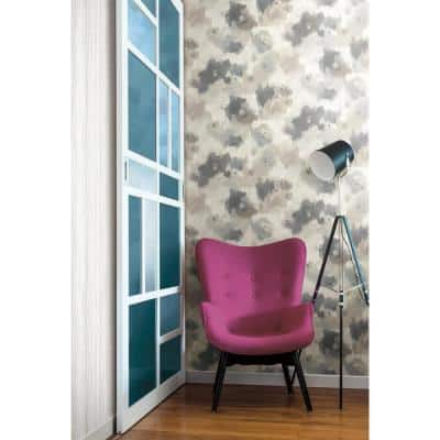 Impressionist Floral Spray and Stick Wallpaper (Covers 56 sq. ft.)