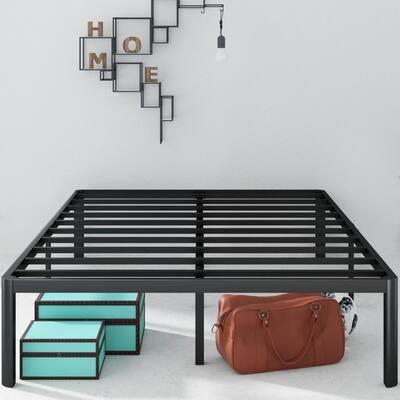 Van 16 Inch Metal Platform Bed Frame with Steel Slat Support, Full