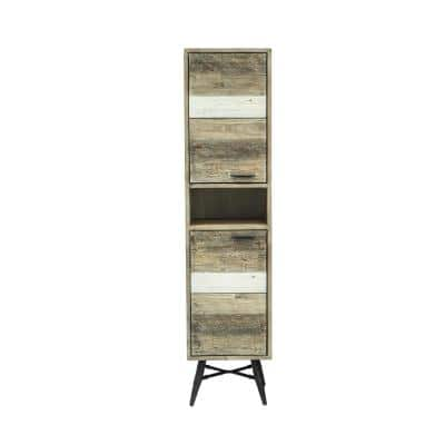 Kingrass 16 in.W x 14 in. D x 67 in.H Storage Column in Solid Acacia Wood