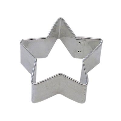 12-Piece 2 in. Star Tinplated Steel Cookie Cutter & Cookie Recipe