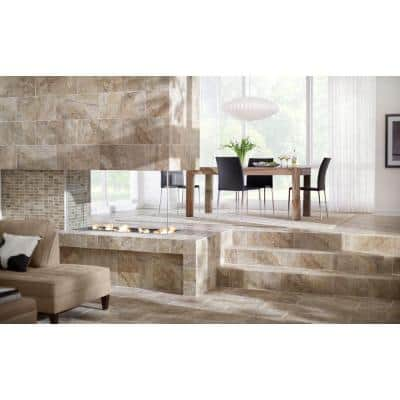 Travisano Bernini 12 in. x 12 in. x 8 mm Porcelain Mosaic Floor and Wall Tile (0.969 sq. ft./Each)