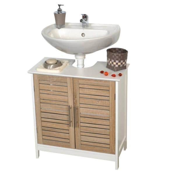 Stockholm 23 60 In W X 11 80 In D X 27 10 In H Freestanding Bath Vanity Cabinet Only Non Pedestal In Mdf 9900306 The Home Depot