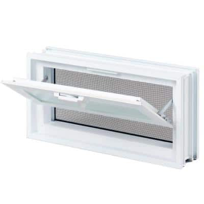 15-1/2 in. x 7-3/4 in. x 3-1/8 in. Hopper Vent for Glass Block Windows