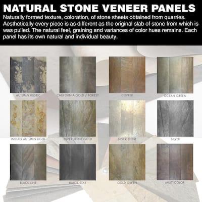 Stone Veneer Indian Autumn 2 ft. x 4 ft. x 2mm (8 sq. ft.)