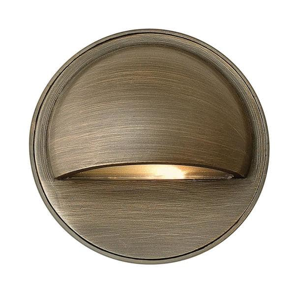 Hinkley Hardy Island Round Eyebrow Matte Bronze Led Deck Sconce 16801mz Ll The Home Depot