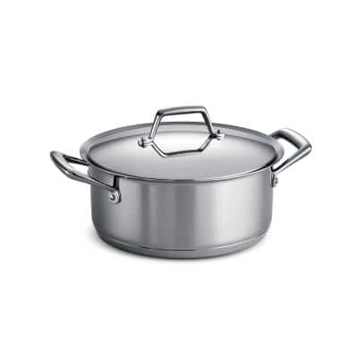 Gourmet Prima 5 qt. Round Stainless Steel Dutch Oven with Lid