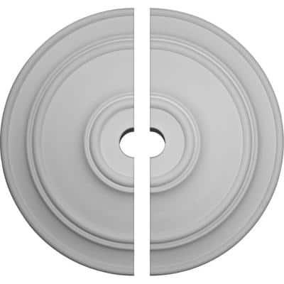 54 in. x 6 in. x 4-7/8 in. Large Classic Urethane Ceiling Medallion, 2-Piece (Fits Canopies up to 13-1/2 in.)