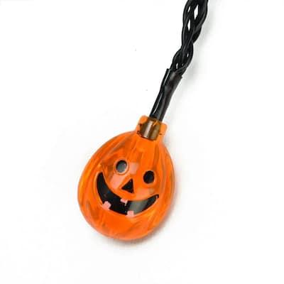 4.75 in. LED B/O Orange Jack-O-Lantern Pumpkin Halloween Lights (10-Set)