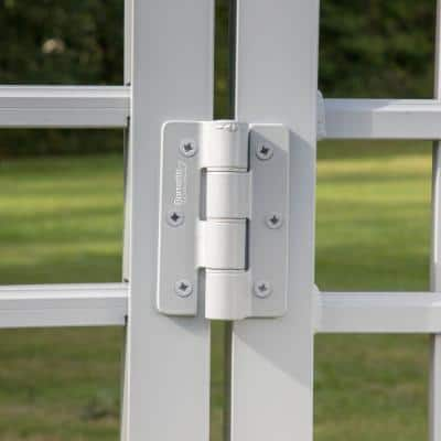 3.125 in. x 4.875 in. Aluminum White Standard Butterfly Hinge (2-Pack)