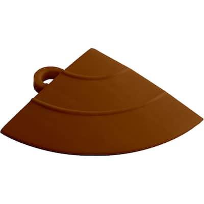 4.5 in. x 2.75 in. Chocolate Brown Polypropylene Corner Edging for Diamondtrax Home Modular Flooring (4-Pack)