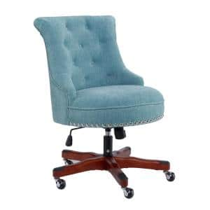 Sinclair 23 in. Width Standard Brown/Walnut Fabric Task Chair with Adjustable Height