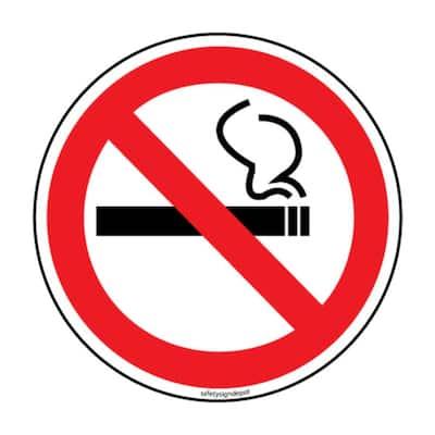No Smoking Stickers 6 in. Circular Vinyl Decals (4-Pack)