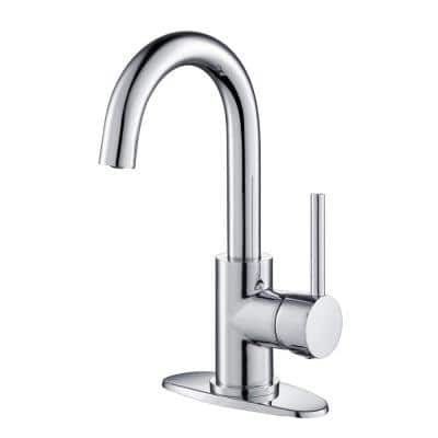 Frankfurt Single-Handle Bar Faucet with Swivel Spout in Polished Chrome