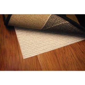 Hard Surface Beige 5 Ft Round Rug Pad, Rug Pad For Laminate Flooring