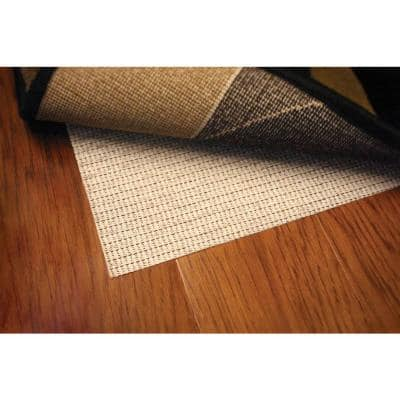 Non Slip Hard Surface Beige 8 ft. Round Rug Pad
