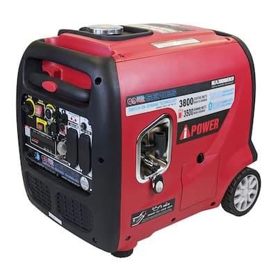 3,800-Watt Wireless Remote Start Dual Fuel Powered Inverter Generator
