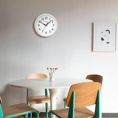 10 in. Ventura White Wall Clock
