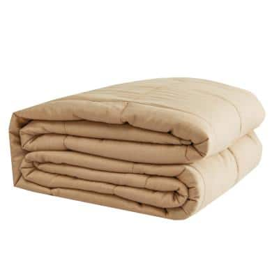Tan 100% Cotton 48 in. x 72 in. 20 lb. Weighted Blanket