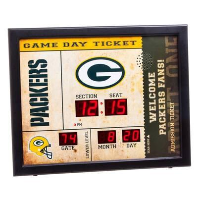 Green Bay Packers NFL Bluetooth Ticket Stub Wall Clock