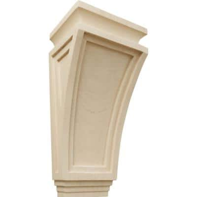 6 in. x 4-3/4 in. x 12 in. Rubberwood Arts and Crafts Corbel