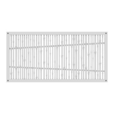 Bungalow 4 ft. x 2 ft. White Polymer Decorative Screen Panel