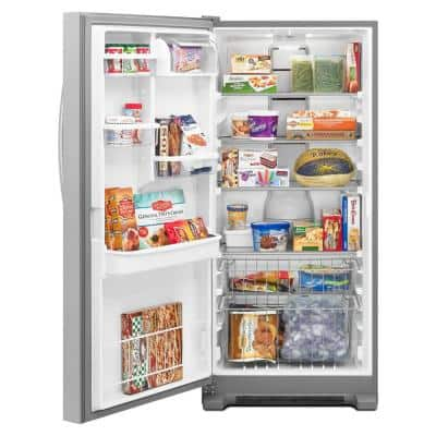 17.7 cu. ft. SideKicks Frost Free Upright Freezer in Monochromatic Stainless Steel
