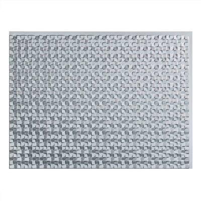 18.25 in. x 24.25 in. Terrain Vinyl Backsplash Panel in Argent Silver (5-Pack)