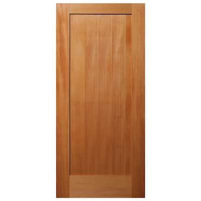 32 in. x 80 in. 1-Panel Shaker Solid Core Unfinished Fir Wood Interior Door Slab