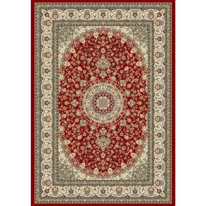 Nicholson Red/Ivory 4 ft. x 6 ft. Indoor Area Rug