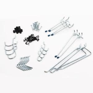 1/8 in Zinc Plated Steel Pegboard Hook Assortment Kit (32-Piece)